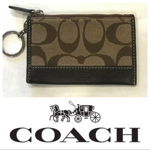 COACH Brown Mini Skinny ID Card holder Coin Wallet